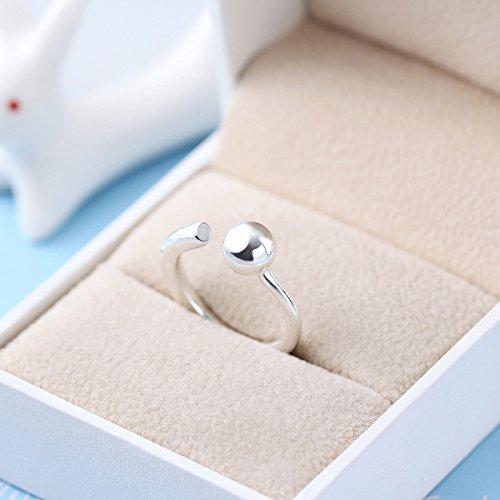 Erica 925 Sterling Silver Fashion Simple Ring Taille ajustable Cadeau pour les femmes ou l'amant