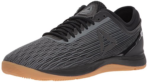 Reebok Men's CROSSFIT Nano 8.0 Flexweave Cross Trainer, Black/Alloy/Gum, 9 M US - Sneaker Cup Sole