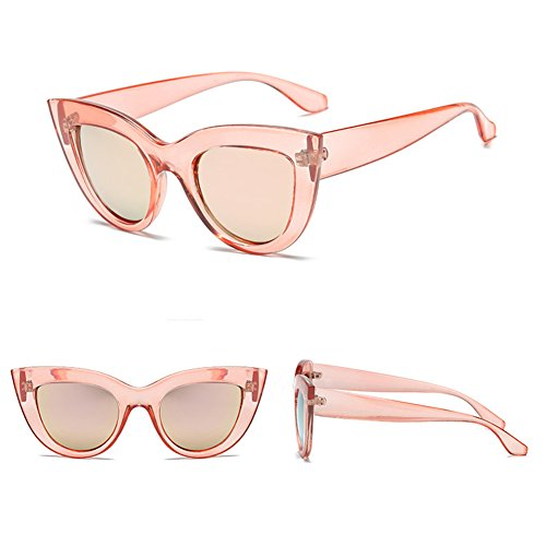 vintage Gafas sol de de C4 de Gafas retro de gato Espejo mujer gafas juqilu Gafas sol ojo qq6gOwr