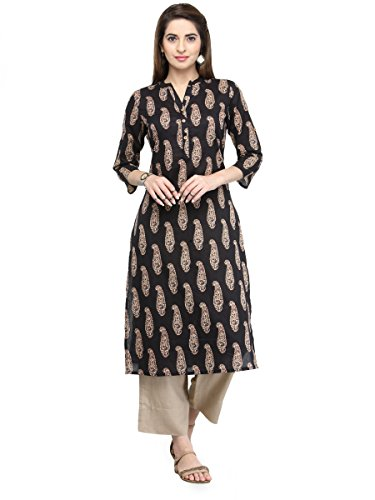 Manas Store Indian Women Designer Kurta Kurti Bollywood Tunic Ethnic Pakistani Top Crepe Kurtis Dress Tunics Cotton Tops Blouse Style Long Silk - Pakistani New Images