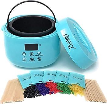 FIREFLY Digital Wax Warmer Hair Removal Waxing Kit + 5 Hard Bean bags and  20 Applicator Sticks