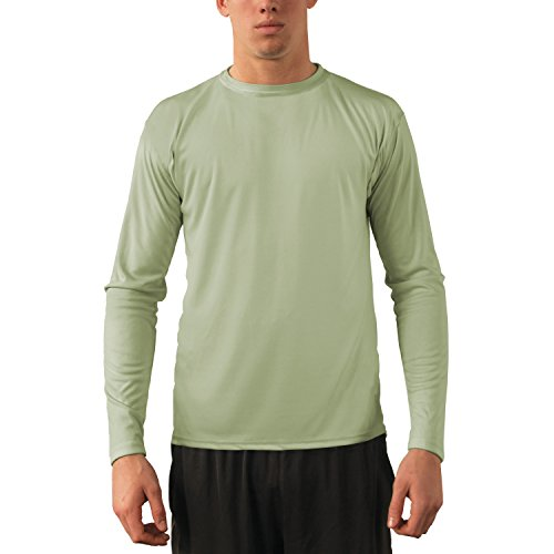 Sage Long Sleeve Tee - Vapor Apparel Men's UPF 50+ Sun Protection Performance Long Sleeve T-Shirt Large Sage