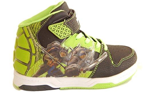 Teenage Mutant Ninja Turtles Shoes (Nickelodeon Toddler Boys Teenage Mutant Ninja Turtles TMNT Athletic High Top Light Up Sneaker Shoes (12))