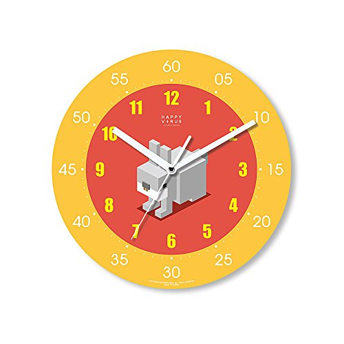 HappyVirus 11.22'' Educational Wall Clock, Children's Time Telling Teacher, Silent Non Ticking Home Decoration (Rabbit) #2034 by HappyVirus
