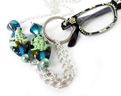 (Frog Eyeglass Lanyard, Beaded ID Lanyard, Eyeglasses Chain)
