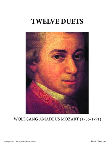 Mozart's Twelve Duets for two Flutes Sheet (Music Sheets For Flutes)