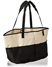 Homz, Canvas, Ivory and Black All Purpose Tote Bag