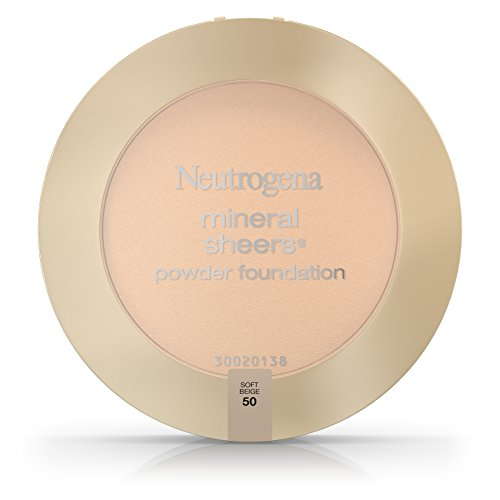 Neutrogena Mineral Sheers Compact Powder Foundation Spf 20, Soft Beige 50,.34 Oz. (Pack of 2)