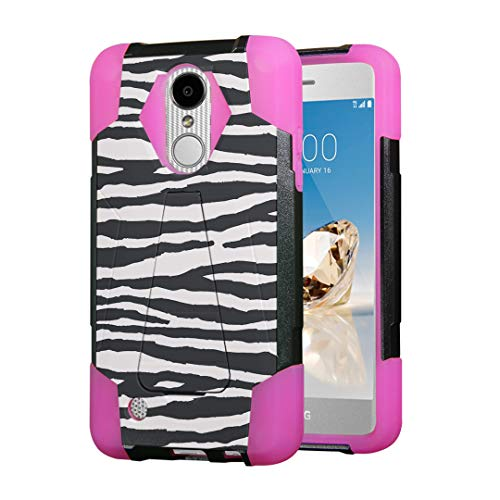- Moriko Case for LG Aristo 2 3 Plus, Tribute Empire Dynasty, Rebel 3 4 LTE, Fortune 2, Phoenix 3 4, Risio 2 3, Zone 4, K8, K8S, K8 Plus Kickstand Black Cover Case (Zebra)
