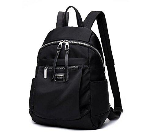 Nueva Bolsa de lona campus Oxford Mochila mochilas escolares,Black Big número,38*26*14cm.