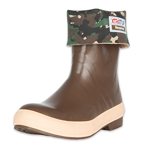 XTRATUF Legacy Series 12'' Camo-Lined Neoprene Men's Fishing Boots, Copper & Tan (22834G) by Xtratuf (Image #7)