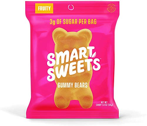 🥇 SmartSweets Low Sugar Gummy Bears Candy Fruity 1.8 Oz Bags