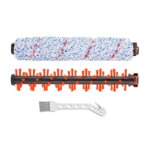 Brush Roll Roller Brush - Lemige 1 Pack Multi-Surface Brush Roll 1868 + 1 Pack Area Rug Brush Roller 1934 for Bissell CrossWave Vacuum Cleaner, Compare to Part # 1608683, 160-8683,1608017,16080-17