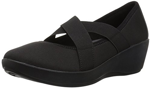 crocs Women's Busy Day Strappy Wedge W, Black/Black, W7 M US