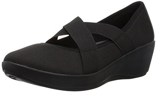 crocs Women's Busy Day Strappy Wedge W, Black/Black, W7 M -