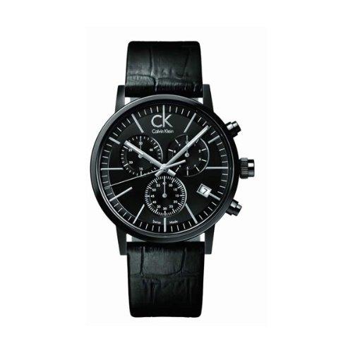 Calvin Klein post-minimal K7627401 - Reloj de caballero de cuarzo, correa de piel color negro: Calvin Klein: Amazon.es: Relojes