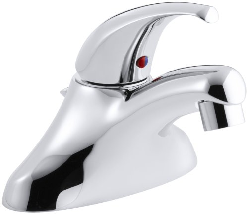 Ground Joints Lever Handle (KOHLER K-15583-P-CP Coralais Single-Control Centerset Lavatory Faucet with Pop-Up Drain, Ground Joints, 1.5 gpm Spray and 3-1/4