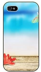 iPhone 4 / 4s Red starfish - black plastic case / Nature, Animals, Places Series