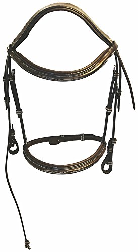 Henri de Rivel Pro Mono Crown Fancy Bridle with Patent Leather - Piping Patent Leather