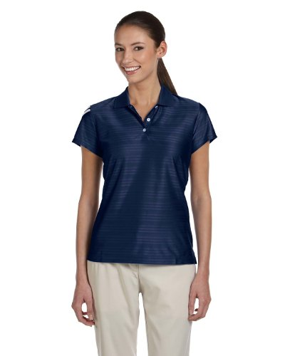 (adidas Golf Womens Climacool Mesh Polo (A135) -Navy/White -2XL)