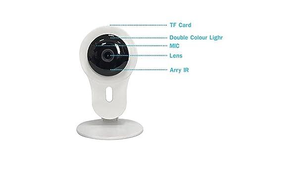Cámara de vigilancia en casa, 720p cámara de seguridad de dos vías de voz para el hogar de intercomunicación de apoyo para sistemas IOS y Android: ...