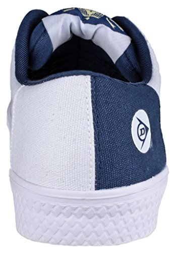 Dunlop - Zapatillas de Lona para hombre blanco