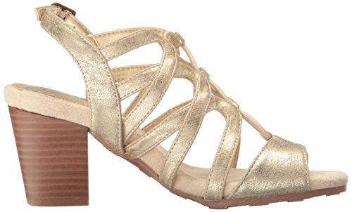 Easy Street Womens Admire Dress Sandal Soft Gold