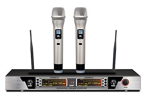Guarda 200-Channel Dual Professional Wireless Microphone System New Two Channel Professional Wireless Microphone