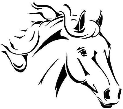 Stencil per pittura con motivo testa di cavallo riutilizzabile per decorazione murale in vero mylar da 125 micron