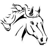 HORSES HEAD Airbrush, Wall Art , Paint Stencil, Genuine Mylar Re-Useable 125 micron