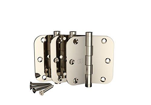 3 Pack Omnia 3 1/2 x 3 1/2 Extruded Solid Brass Door Hinge 5/8