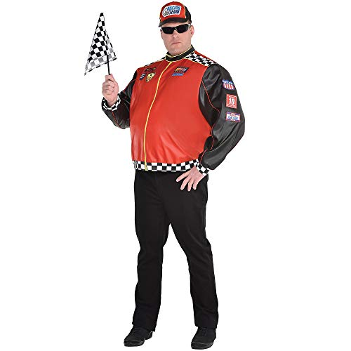 Party City Fast Lane Driver Halloween Costume for Men, Plus Size, with