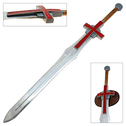 Knights Templar Weapons - Viking Knights Steel Holy Templar Crusader Sword Cross Greatsword Officially Licensed