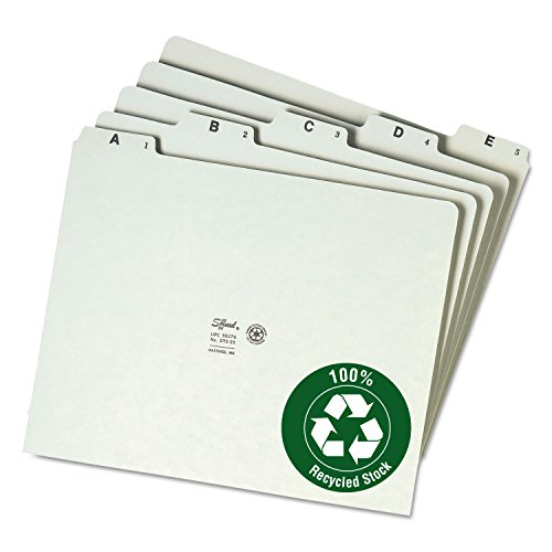 Smead 50376 Recycled Top Tab File Guides Alpha 1/5 Tab Pressboard Letter 25/Set ()