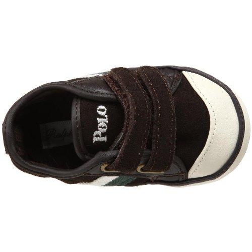 26385CHOCOLATESUEDEDEREKLOW Ralph Lauren Sneakers Niño Gamuza Marrón Marrón