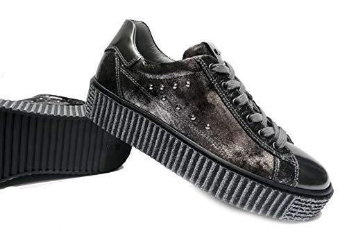 Femme pour de Chaussures Lacets Nero à Giardini Ville cZ8B4Kw0q
