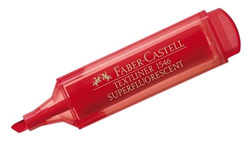 Faber-Castell 154621 - Textmarker Textliner 1546, nachfüllbar, rot