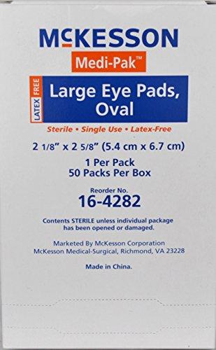 McKesson Eye Pad Oval Sterile 2 1/8