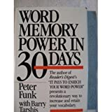Word Memory Power, Peter Funk, 0440392004