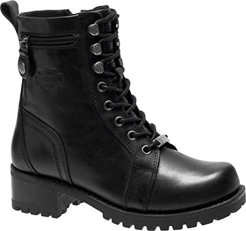 HARLEY-DAVIDSON Women's Keeler Motorcycle Boot, Black, 9 M US (Motorcycle Boots Female)