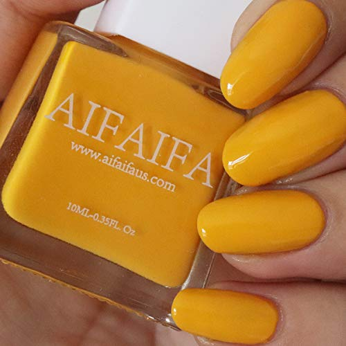 Cheap AIFAIFA Yellow Nail Polish, Long-Lasting Winter Nail Polish, Dress Call, Yellow Nail Polish, 0.4 Fl Oz yellow nail polish