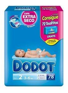Dodot Diapers Blue T-2 78u 3-6 Kg