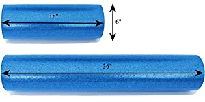 Foam Roller w High Density Firm Core by FeelGreat Physical Therapy, Pilates, Yoga, & Massage Therapy Medium Soft Exterior
