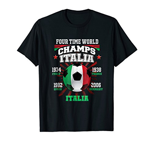 Italy Football T-Shirt with Cup Years for Italia Soccer Fans