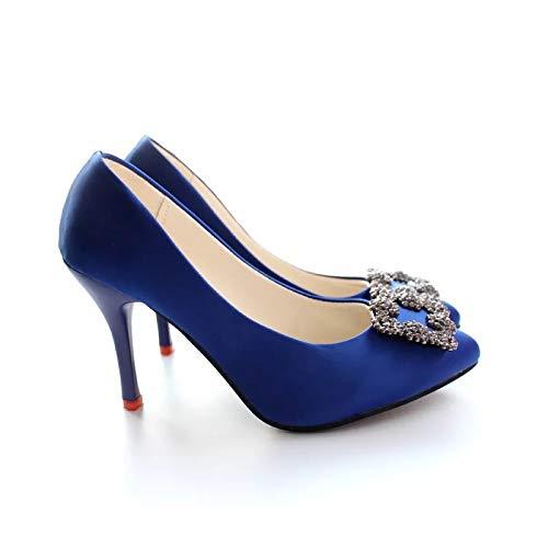 zapatos Professional Zapatos Stiletto Loss tacón Mujer Fashion Yukun Zapatos Profesionales Pointed Nightclub De Slip Trabajo alto Sapphire A En De de TxBIqI8wd