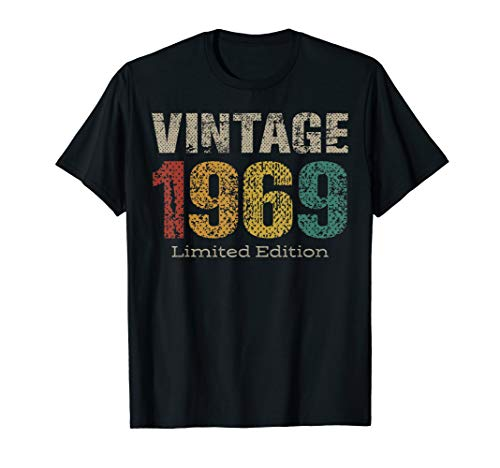 - Vintage 1969 Limited Edition 50th Birthday Gifts 50 Year Old T-Shirt