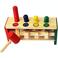 SN Toy Zone Small Wooden Blow Air Toy Hammer and Bullet Shapes Balls/Blocks