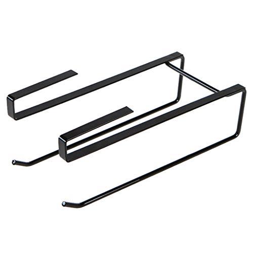 - YJYdadaS Creative Free Punching Simple Wrought Iron Door Cabinet Hanging Kitchen roll Paper Holder Cabinet partition Layer Storage Rack (Black)