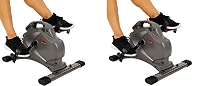 Sunny Health & Fitness SF-B0418 Magnetic Mini Exercise Bike, Gray (2-Bikes)