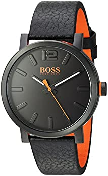 HUGO BOSS Men's BILBAO Quartz Stainless Steel and Leather Watch